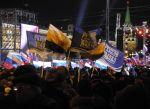 Mosca, festa per la vittoria di Putin
