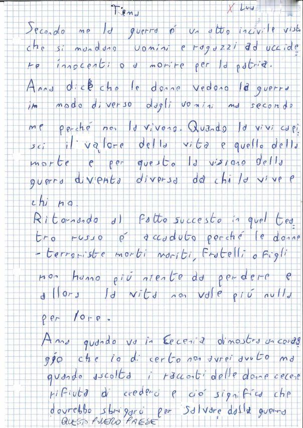 Lettera ad Anna Politkovskaja