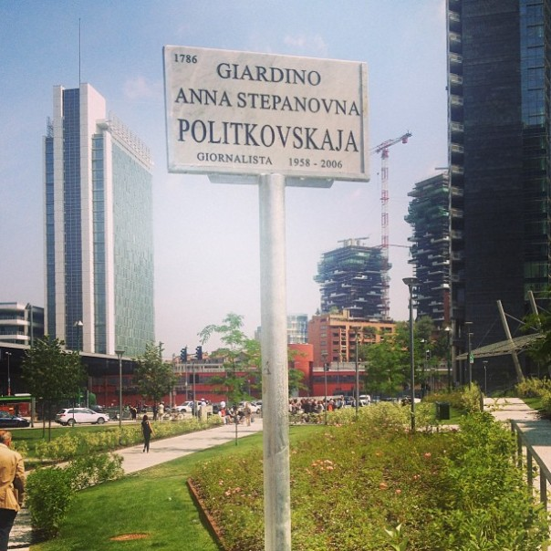 giardini Anna Politkovskaia Milano