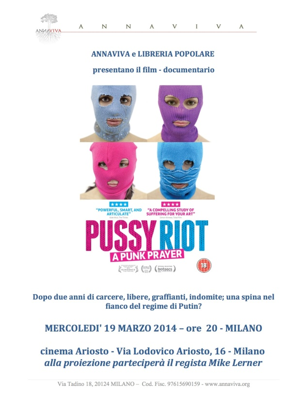Pussy Riot Milano